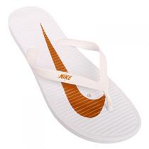 Chinelo Nike Solarsoft Thong Branco - Dourado