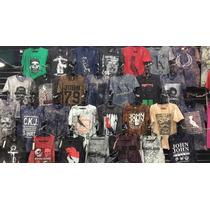 Kit 10 Camiseta Camisa John John T-shirts Pre Lavada Atacado