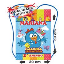 30 Mochilinhas Sacolinhas Personalizadas Galinha Pintadinha