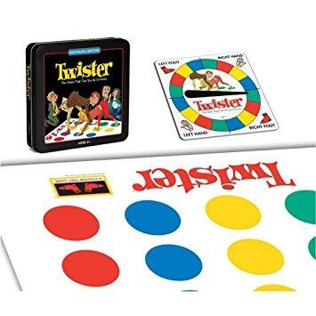 Juego Juego De Mesa Twister Clasico Con El Caso De La Lata