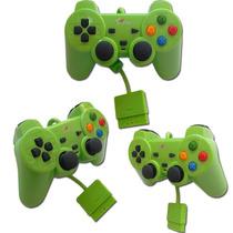 Kit 3 Controles Para Play 2 Com Fio Color Barato