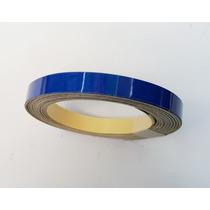 Kit De Cintas Tunning Llantas Universal Azul Reflectivo X 4