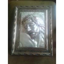 Cara De Cristo Con Corona De Espinas