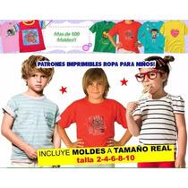 Moldes Patrones Remeras - Franelas Y Camisas Para Niños