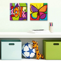 Cuadros Decorativos 2 Pz 30x30 Rompecabezas Coloridos