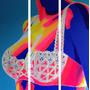 Cuadro Triptico Pop Art Moderno Mujer Sensual No Desnudos