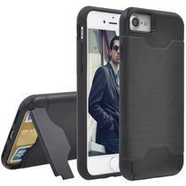 Estuche Iphone 7 Integrados Pata Cabra Ranura Tarjeta Doble