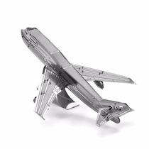 Rompecabezas Miniatura 3d Metálico Avión Boing 747