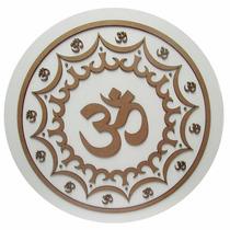 Mandala Símbolo Om Em Mdf 72cm Cor Mista