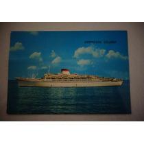 Cartão Postal Navio Cristoford Colombo