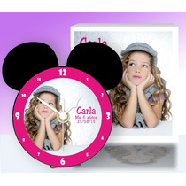 10 Reloj Cd Cumpleaños-mickey/minnie, Pila-atril-caja