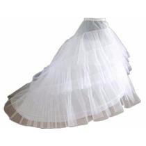 Anágua Vestido Noiva Princesa Com Cauda Pronta Entrega