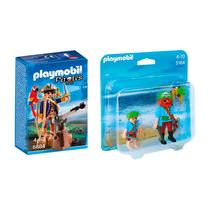 Playmobil Combo Piratas Capitán 6684 + Duo Pack 5164