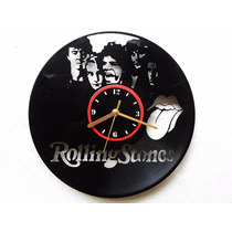 Reloj De Pared Disco Vinilo Acetato Vinil The Rolling Stones