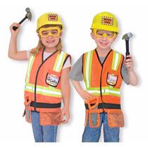 Disfraz De Trabajador Para Niños Con Accesorios Constructor