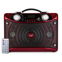 Caixa De Som Amplificada Rádio Bluetooth Usb Sd Fm Potente
