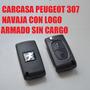 Llave Peugeot 307 Carcasa Navaja Con Logo Armado Sin Cargo