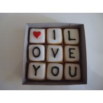 Deliciosas Galletas Decoradas Con Mensaje, 14 Febrero, Amor