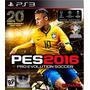 Pes Pro Evolution Soccer 2016 Ps3 Digital