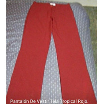 2 Pantalones *nox* Tela Tropical Rojo Y Verde Nuevos...!!!
