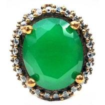 Hhp-anel Turquia Turco Prata 925 Jade Zirconia