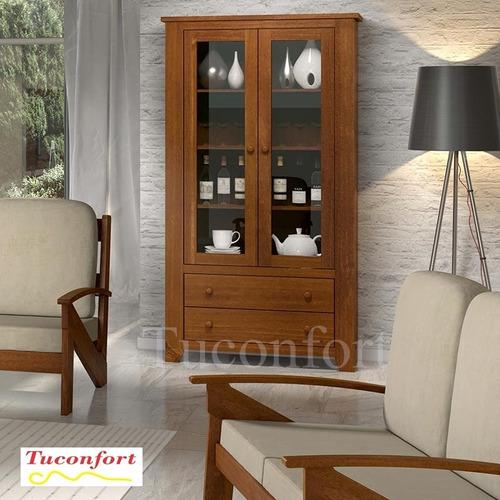 Artesanato Em Madeira Frases ~ Aparador estanteria armario Madera Maciza living comedor $ 13 990,00 en Mercado Libre