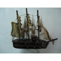 Barco Antiguo - Maqueta - 10cm De Largo