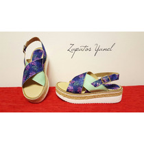 Sandalias Mujer Zapato Plataforma Verano 38 37 Zapatos Yanel