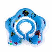 Boia De Pescoço Inflável Para Bebe Azul - Pronta Entrega