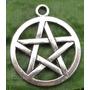 Pingente Pentagrama Wicca Prata Tibetana Importado Unidade