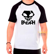 Camiseta Raglan Bleach Anime 100% Algodão - Frete Grátis