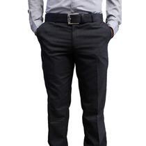 Pantalón De Vestir Gris Oxford Marca Concrete