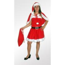 Fantasia Mamãe Noel Vestido Adulto Natal Feliz Papai Noel