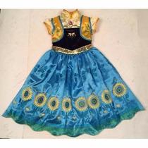 Fantasia Vestido Frozen Anna Fever 3 A 10 Anos Promoção