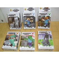 Figuras Minecraft Set X6 Excelentes Blockes Para Armar Blok