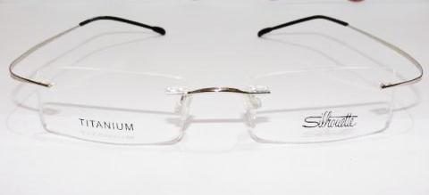 0f8e16b99f95d Armação Oculos Grau Flex Silhouette Titanium Sem Aro Prata - R  89 ...