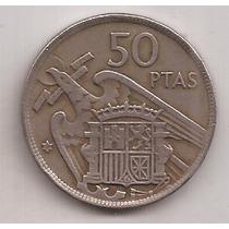 España Moneda De 50 Pesetas Año 1957