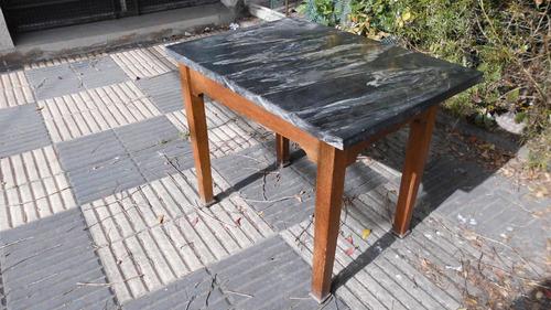 Mesa ratona roble marmol negro veteado 38x45 for Marmol negro veteado