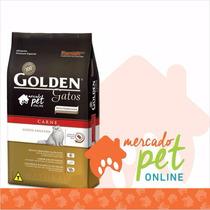 Ração Golden Gatos Adultos Sabor Carne 10,01 Kgs