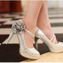 Zapatos De Novia Plateado (max)