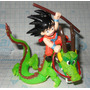 Figura Dragon Ball Z Goku Shenlong Plastico 10 Cm Movible