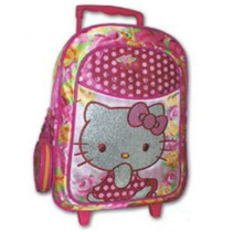 Morral Grande Con Ruedas Hello Kitty Original