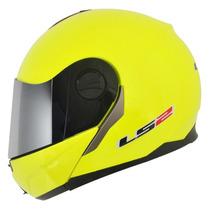 Capacete Ls2 Ff386 Articulado (robocop) Amarelo Fluor