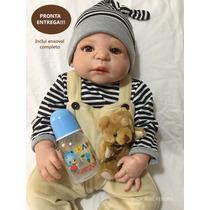 Bebe Reborn Victor Corpo Silicone C/ Enxoval Pronta Entrega