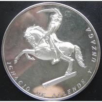 Medalla Mexico Club De Leones Ignacio Allende Plata