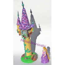 Rapunzel, Camaleón Y Torre 50cm, Enredados, Disney Torta