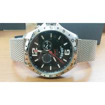 Relógio Tommy Hilfiger Modelo Gmt Pulseira Mesh Novo Com Nf