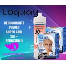Decolorante Pulver Super Azul Loquay 500gr 2x1 + Peroxido