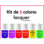 Kit Lacquer Evolution 5 Colores 8 Ml ( Gel Gelish Esmalte )
