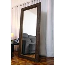 Espelho Com Moldura Madeira Detalhes Rústico 0,70cm X 1,70mt